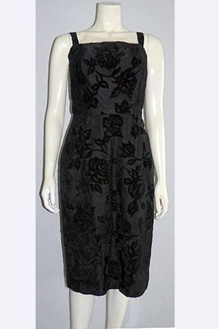 1950s Hattie Carnegie Trained Evening Dress
