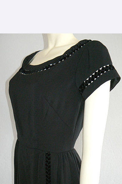 1950s Sophie Gimbel Little Black Dress