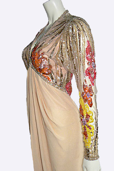 1990s Bob Mackie Beaded Gown