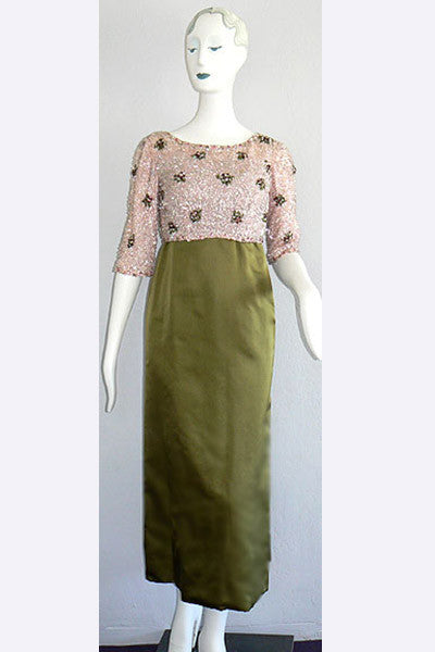 1960s Christian Dior Evening Gown