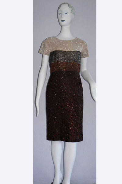 1950s Norman Hartnell Beaded Dress