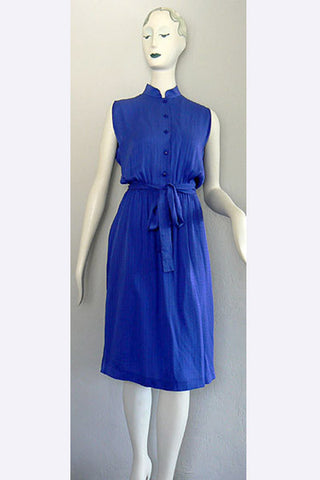 1970s Madam Gres Boutique Silk Dress