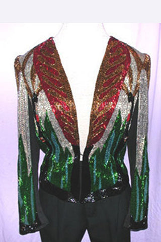1980s Stephen Burrows Beaded Jacket