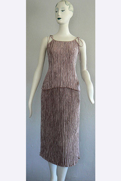 1970s Mary McFadden Fortuny Style Pleated Ensemble