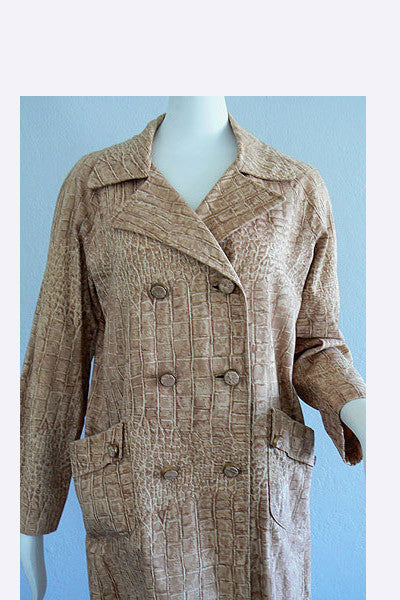 1960 Lawrence of London Reptile Print Coat