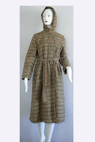 1960s Bill Blass, Bond Street Reptile Print Corduroy Coat