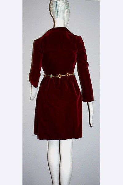 1960s Adele Simpson Velvet Dress & Belt