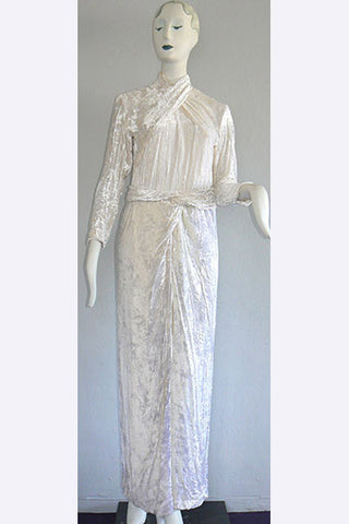 1980s Galanos Goddess Gown