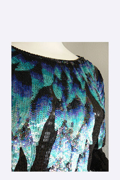1970s Halston Sequin Top