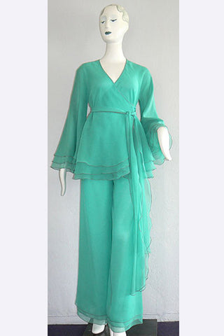 1970s Stephen Burrows Chiffon Pants Ensemble
