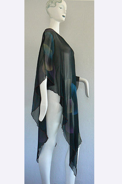 1960s Stephen Burrows Chiffon Bubble Poncho