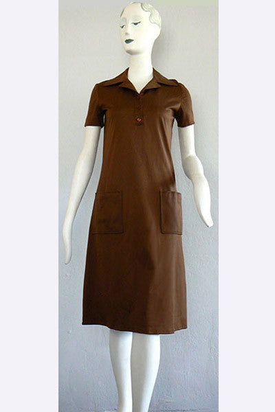 1970s Halston Polo Dress