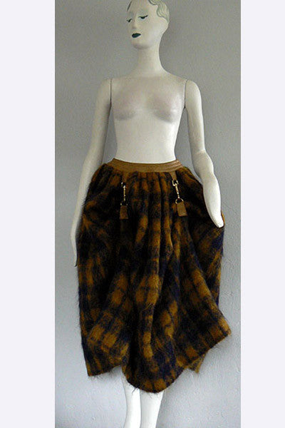 1960s Bonnie Cashin Mohair Dog Leash Skirt