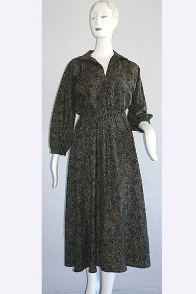 1970s Halston Wool Dress