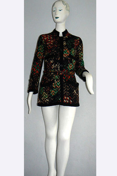 1960s Coco Chanel Haute Couture Fantasy Tweed Jacket