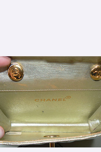 1980s Chanel Gold Mini Purse