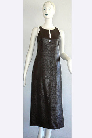 1970s Andre Courreges Vinyl Dress