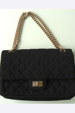 1960s Coco Chanel 2.55 Quilted Wool Handbag