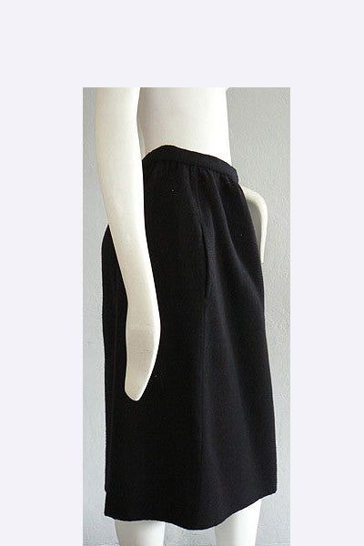 1970s Halston  Wool Skirt
