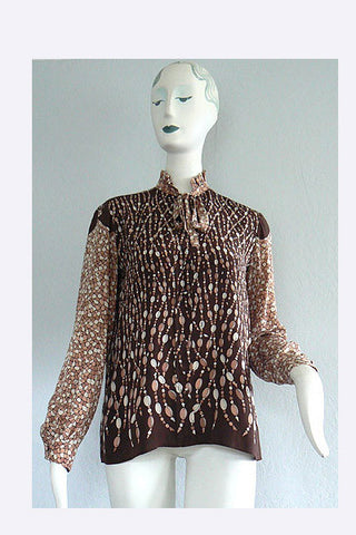 1970s Pucci Mosaic and Jewel Blouse