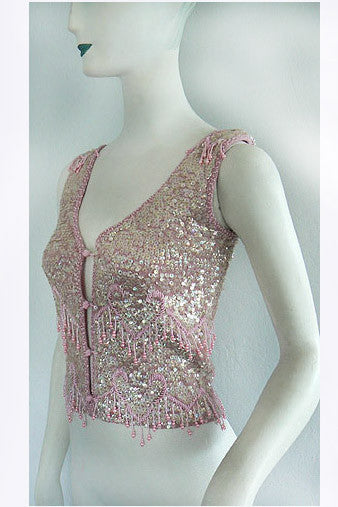 1970s Giorgio Sant Angelo Sequin Top
