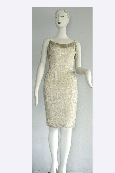 1950s Beaded Cocktail Dress