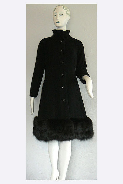 1960s Balenciaga Fox Trimmed Coat