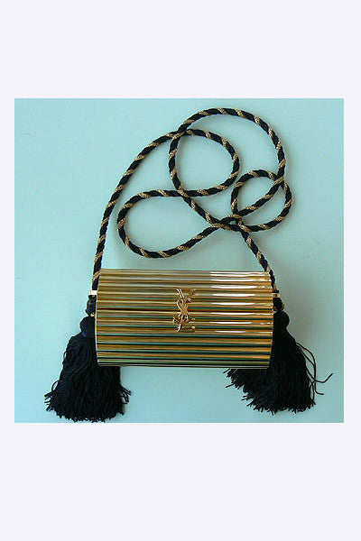 1970s Yves Saint Laurent Gold Metal Purse