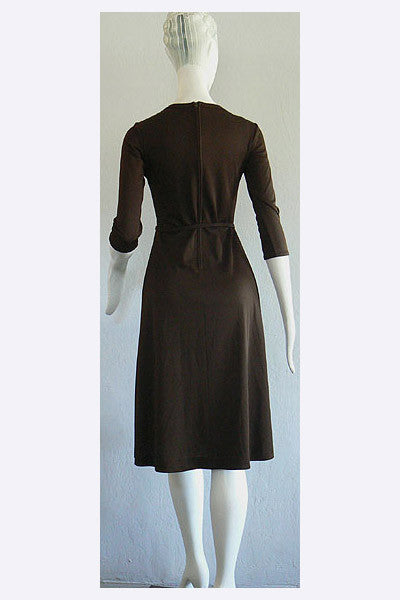 1970s Lanvin Logo Dress