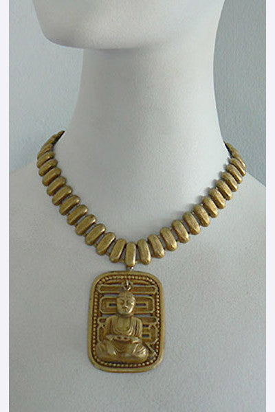 1940s Joseff of Hollywood Buddha Necklace