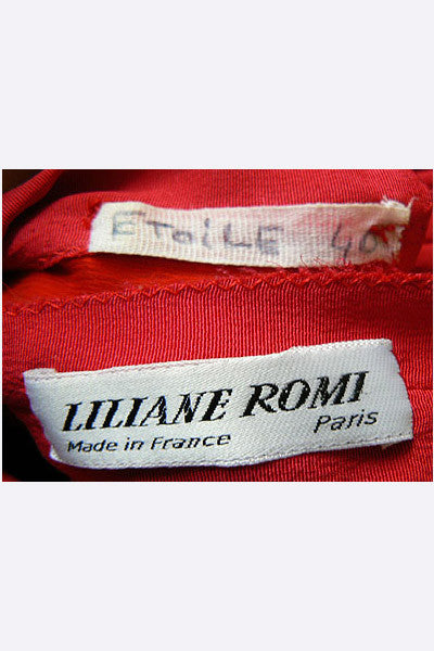 "1970s Liliane Romi Paris ""Etoile"" Dress"