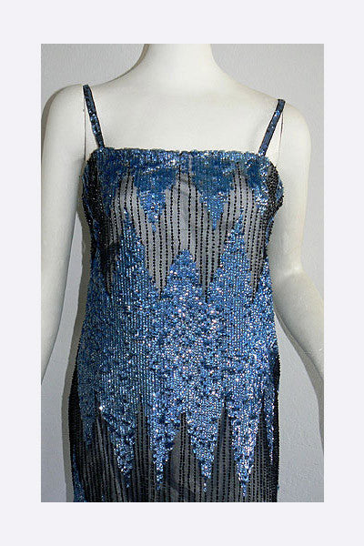 "1960s Deco Sequin ""Flapper's Dress"""