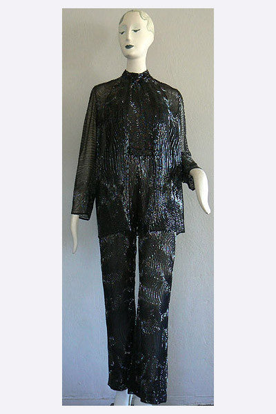 1980s Halston custome made for Ann Miller Ensemble