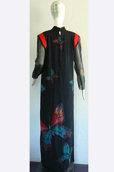 1980s Hanae Mori Butterfly Dress