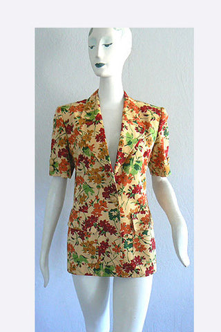 1980s Valentino Floral Jacket