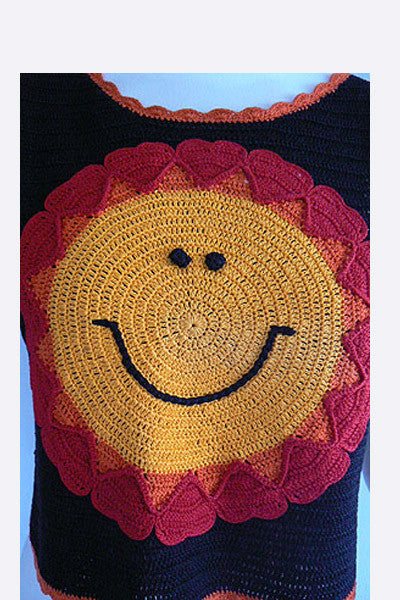 1990s Moschino Smiley Knit Vest