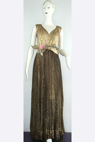 1930s Gold Lame' Gown