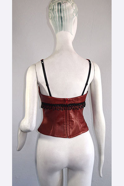 1990s North Beach Leather Bustier