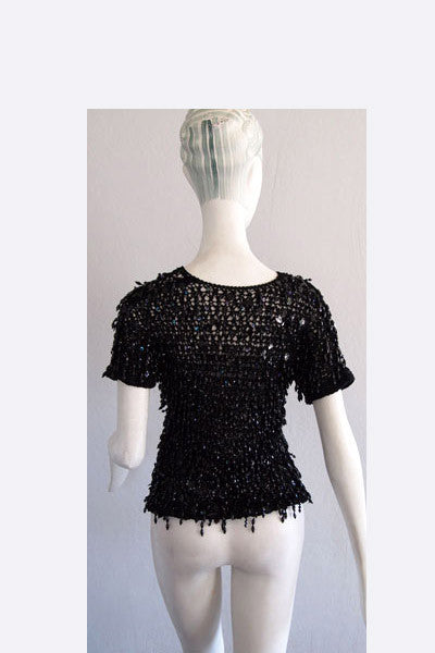 1970s Guy Laroche Beaded Top