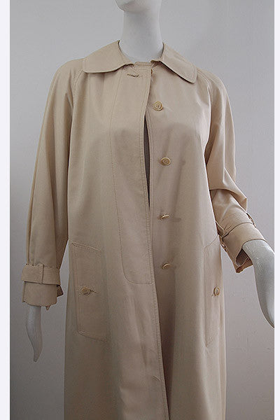 1970s Calvin Klein Silk/Wool Trench Coat