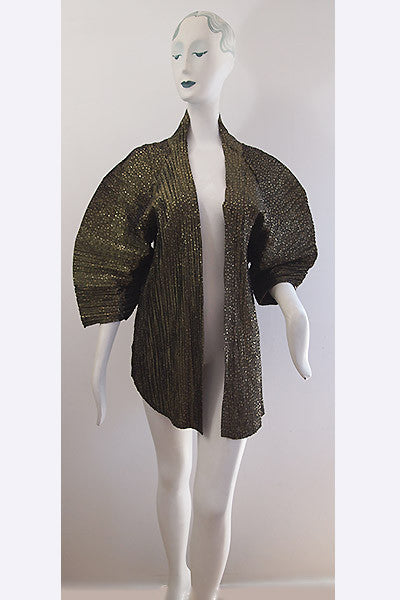 1980s Gold Flecked Origami Pleated Jacket