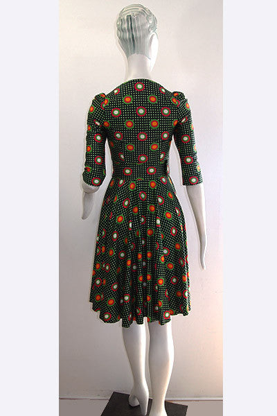 1960s Yves Saint Laurent Fabric Dress