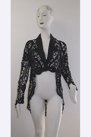1890s Soutache Lace Riding or Bustle Style Jacket