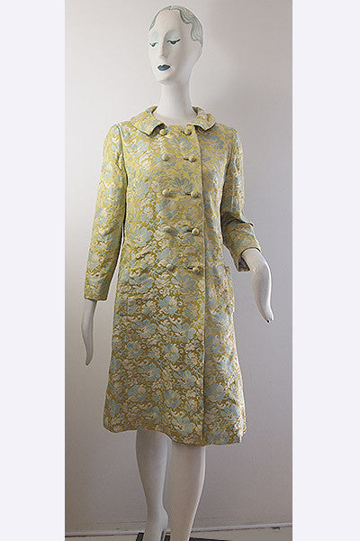 1960s Saks Fifth Avenue Brocade Coat