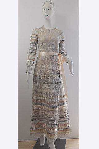 1970s Giorgio di Sant' Angelo Ribbon Dress