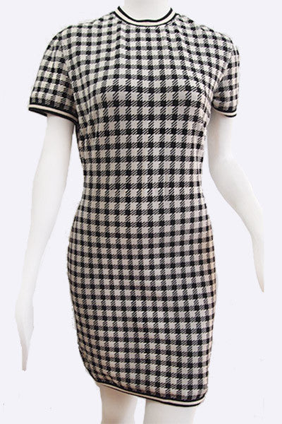 "1991 ALAIA ""Tati Collection"" Black & White Check Dress"