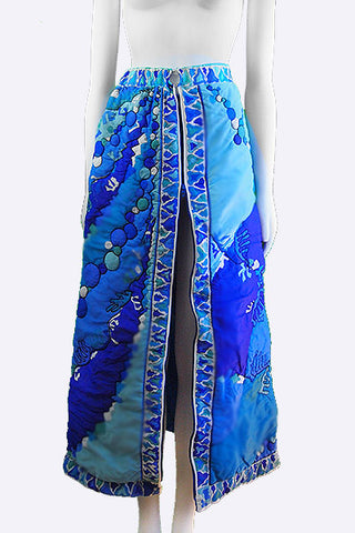 1960s Emilio Pucci Long Quilted Skirt EPFR