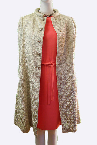 1960s Adele Simpson Coat and Dress Ensemble