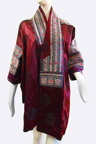 1950s Miao Embroidered Silk Jacket