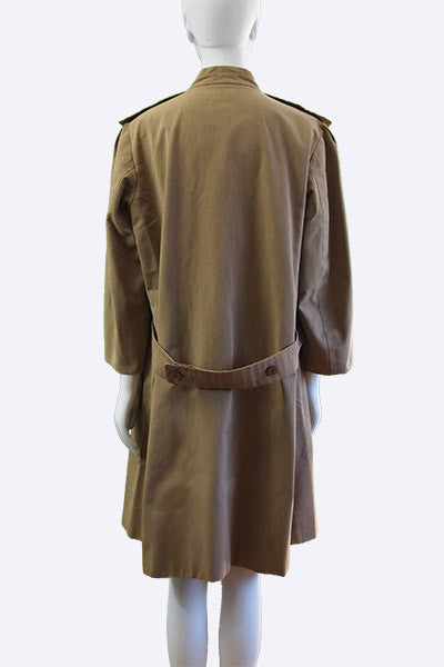 1963 Balenciaga Couture Canvas Coat